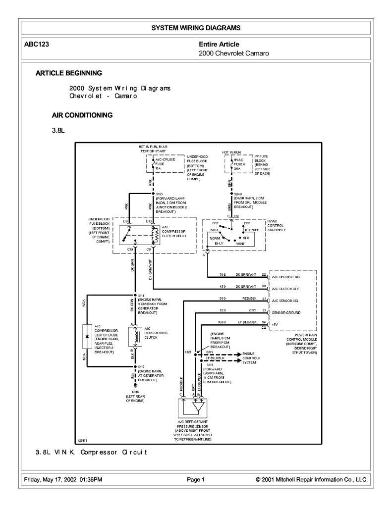 [DIAGRAM_3ER]  system wiring diagrams.pdf (1.63 MB) | 2000 Camaro Wiring Diagram |  | Chevrolet klub